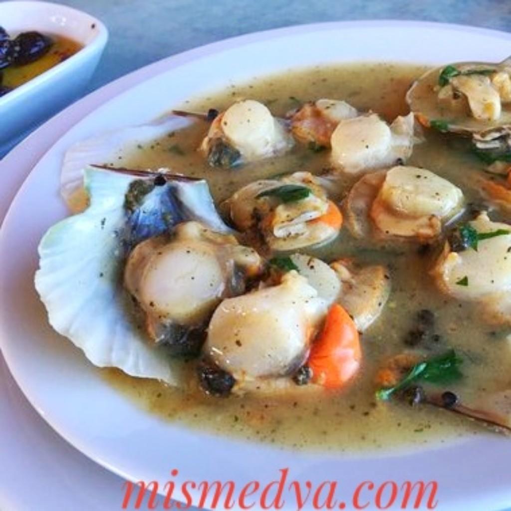 Deniz tarağı çorbası