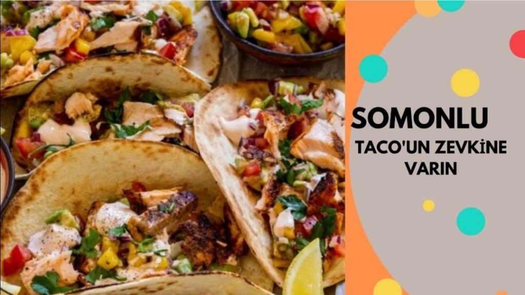 Somonlu tacos avokado sos eşliğinde kolay ve hafif...